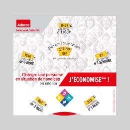 Photo du disque simulateur de contribution Adecco